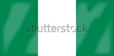 Nigéria bandeira africano país África Foto stock © Bigalbaloo