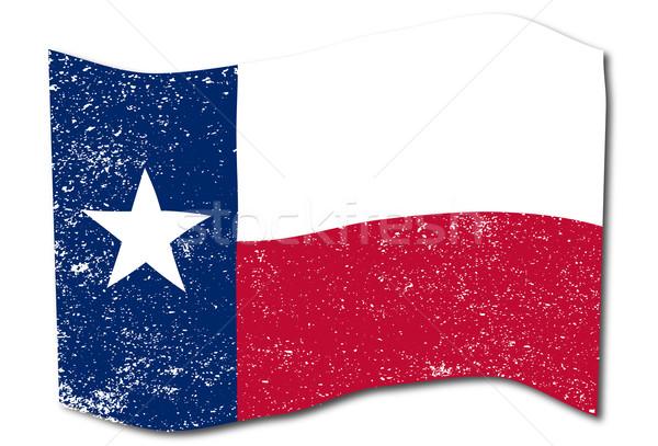Texas bandera EUA estrellas blanco Foto stock © Bigalbaloo