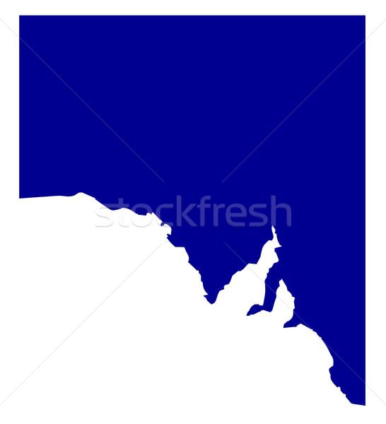 Sul da austrália silhueta mapa país desenho costa Foto stock © Bigalbaloo