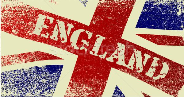 Union jack Engeland grunge brits vlag tekst Stockfoto © Bigalbaloo