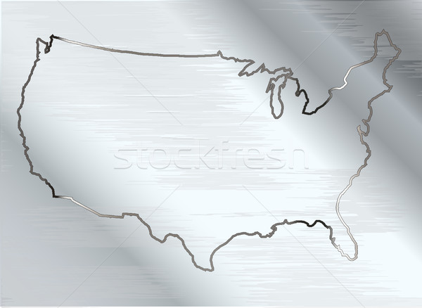 USA On Brushed Metal Stock photo © Bigalbaloo