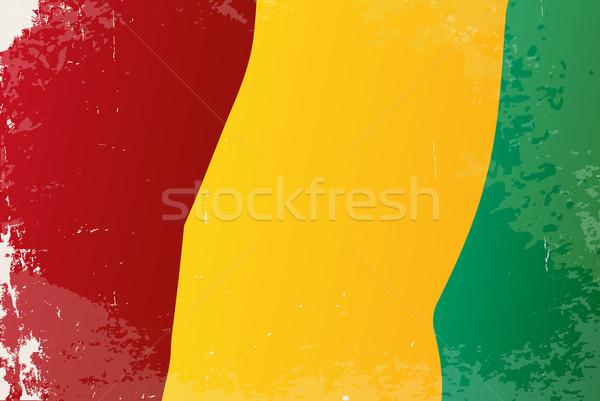 Guinea zászló afrikai vidék művészet Afrika Stock fotó © Bigalbaloo