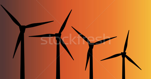 Wind Farm Stock photo © Bigalbaloo