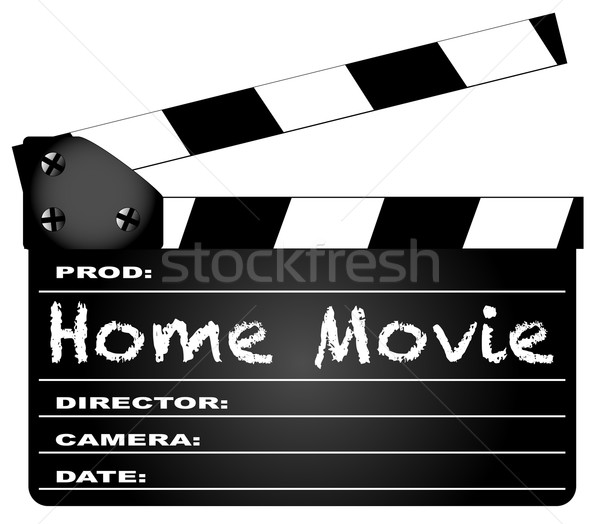 Home Movie Clapperboard Stock photo © Bigalbaloo