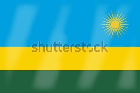 Rwanda pavillon africaine pays Afrique Photo stock © Bigalbaloo