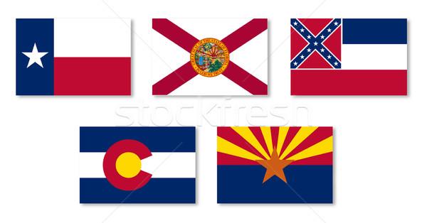 United States State Flag Collection Stock photo © Bigalbaloo