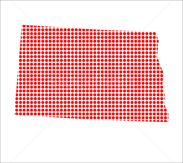 Red Dot Map of North Dakota Stock photo © Bigalbaloo