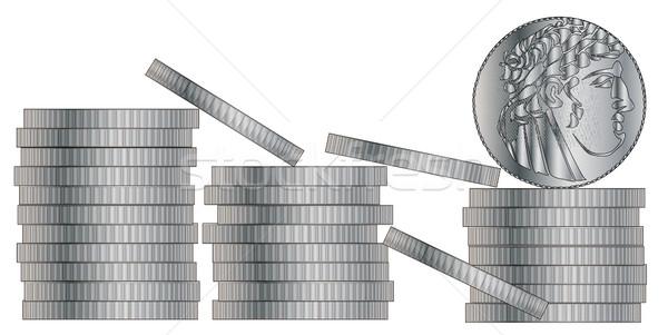30 piezas plata Jesús Cristo dinero Foto stock © Bigalbaloo