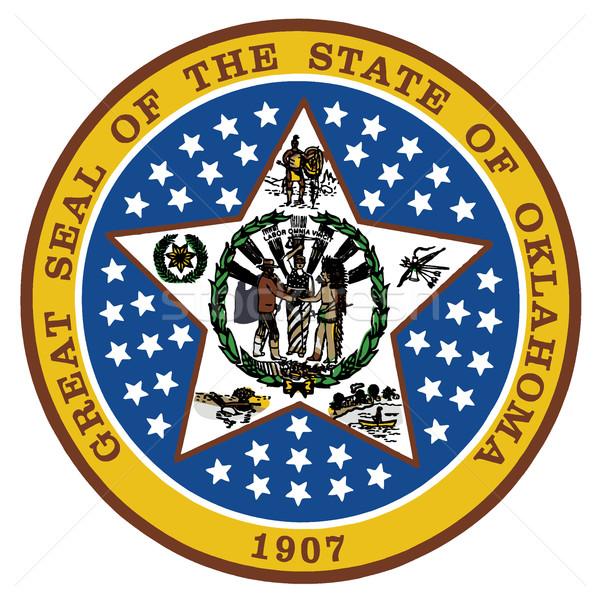 Оклахома печать белый графических Соединенные Штаты Сток-фото © Bigalbaloo