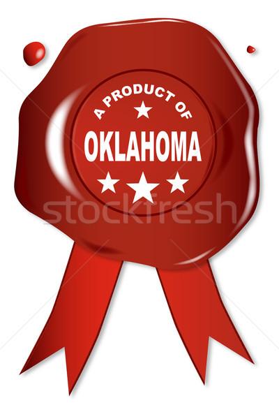продукт Оклахома воск печать текста красный Сток-фото © Bigalbaloo