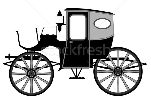 Old Style Carriage Stock photo © Bigalbaloo