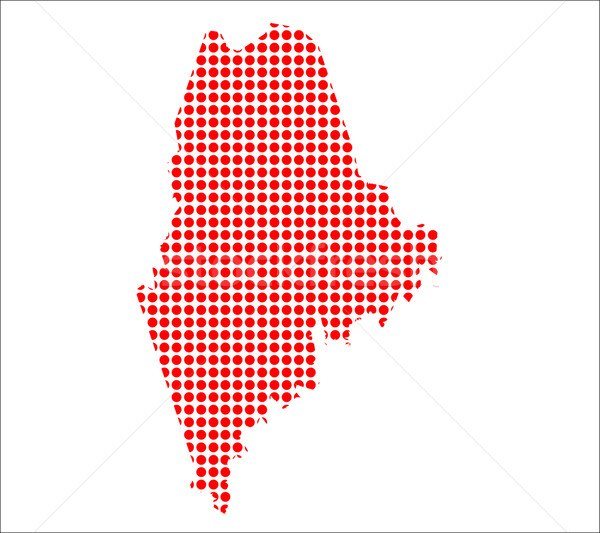 Piros pont térkép Maine háttér fém Stock fotó © Bigalbaloo