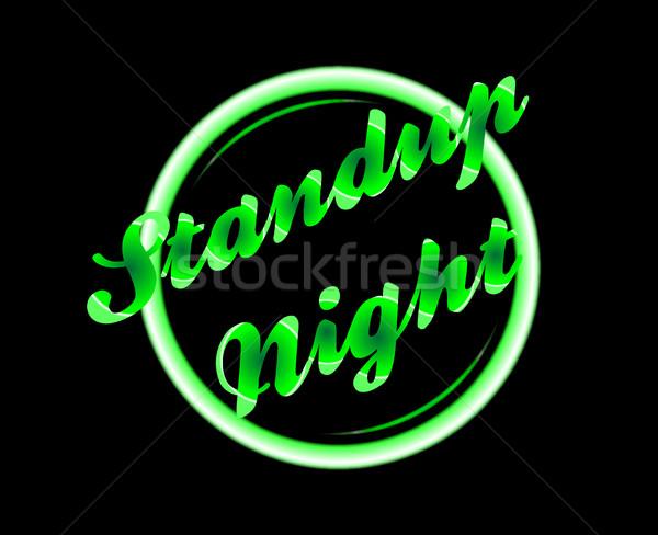 Standup Night Florescent Light Stock photo © Bigalbaloo