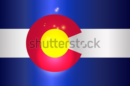 コロラド州 フラグ 米国 アメリカン 背景 赤 ストックフォト © Bigalbaloo