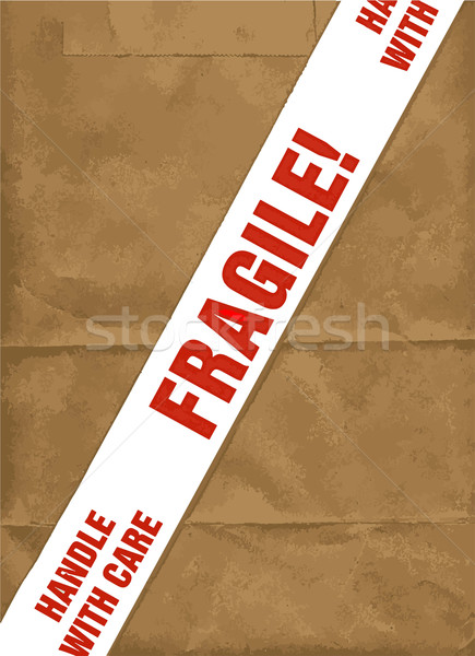 Fragile With Care Stock photo © Bigalbaloo