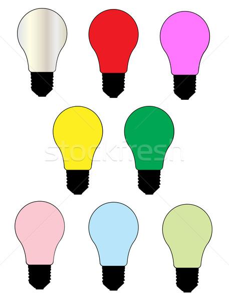 Celebration Light Bulbs Stock photo © Bigalbaloo