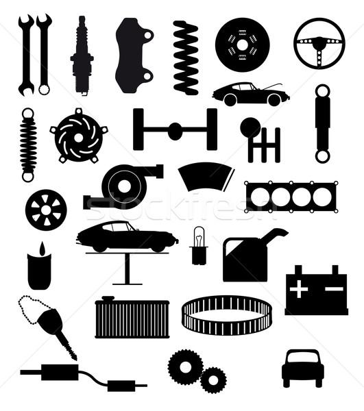 Auto Service Items Stock photo © Bigalbaloo