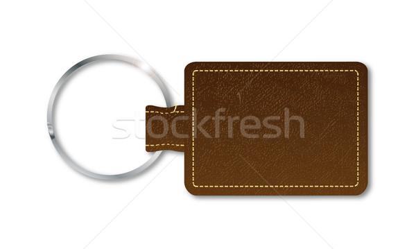 Leather Key Fob Stock photo © Bigalbaloo