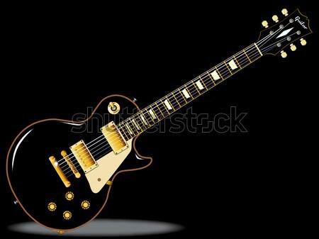 Rock Standard Guitar Stock photo © Bigalbaloo