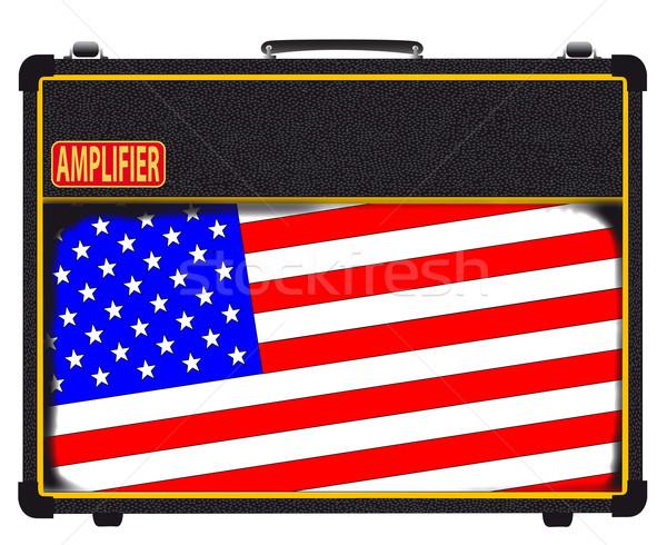 USA Rock Amplifier Stock photo © Bigalbaloo