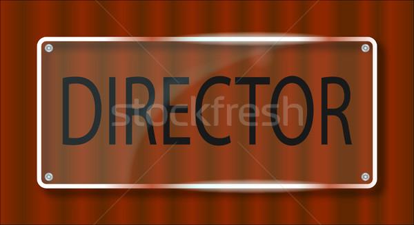 Direktor Tür Plaque charakteristisch Kunststoff Name Stock foto © Bigalbaloo