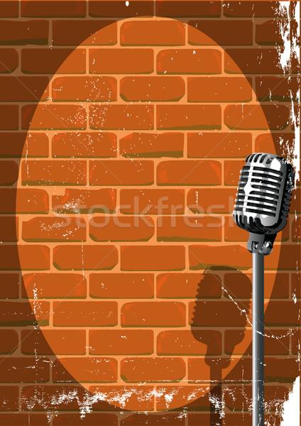 Musical Event Poster Grunge Stock photo © Bigalbaloo