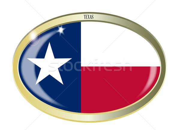 Texas State Flag Oval Button Stock photo © Bigalbaloo