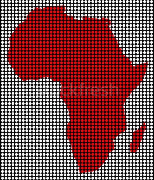 Tablicy Afryki Pokaż czarny czerwony za Zdjęcia stock © Bigalbaloo