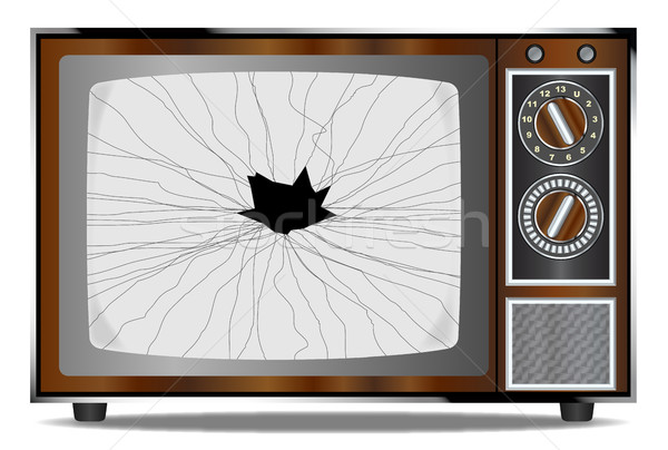 Damaged Television Set Stock photo © Bigalbaloo