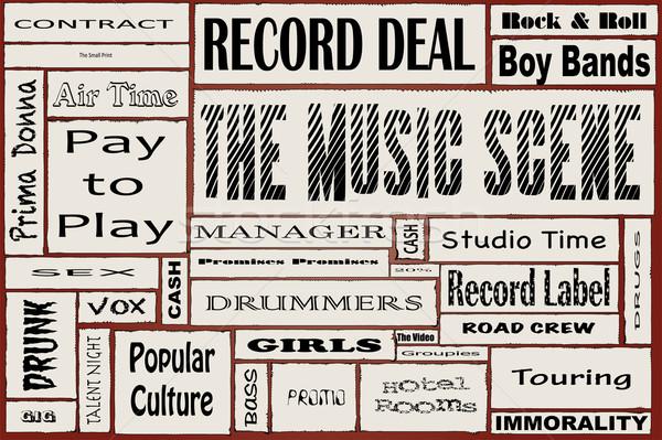 The Music Scene Stock photo © Bigalbaloo