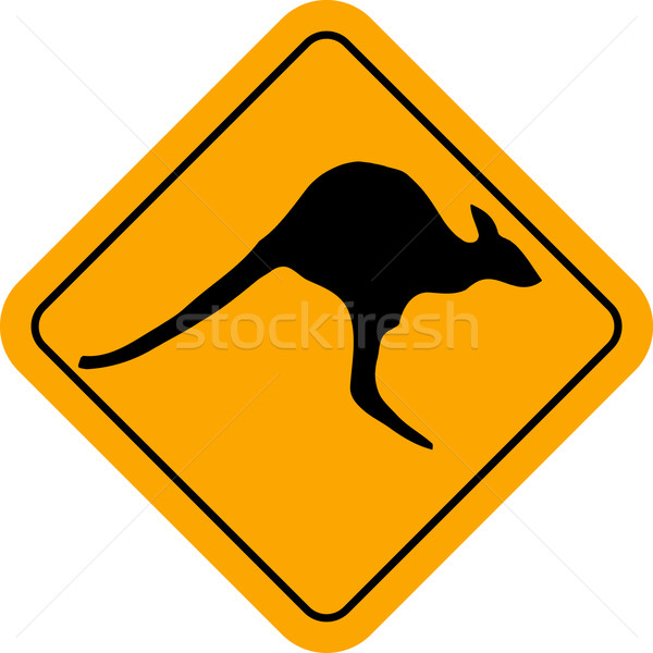Kangaroo Sign Stock photo © Bigalbaloo