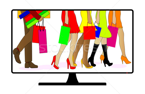 Shopping Channel Stock photo © Bigalbaloo
