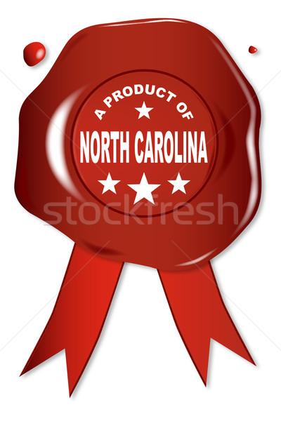 Termék Észak-Karolina viasz fóka szöveg piros Stock fotó © Bigalbaloo