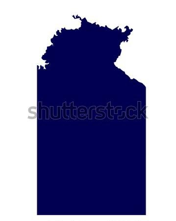 Australian Northern Territory State Silhouette Stock photo © Bigalbaloo