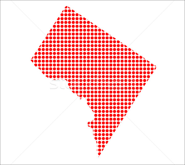 Red Dot Map of Washington DC Stock photo © Bigalbaloo