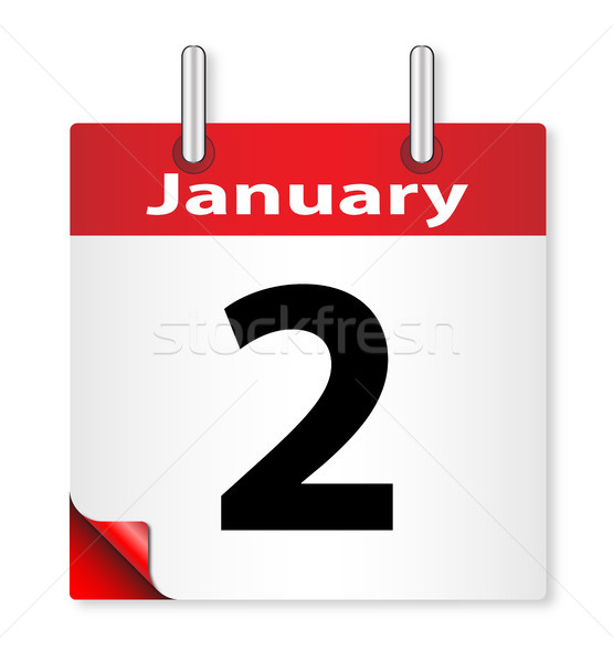 Stock photo: Date January 2nd