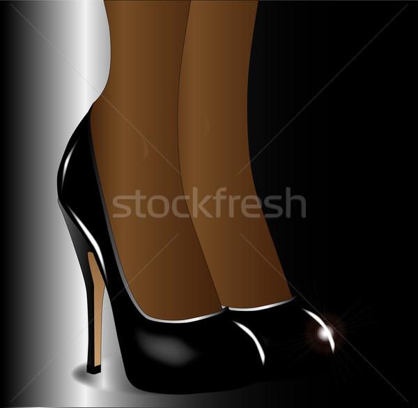 Legs with Stiletto Heals Stock photo © Bigalbaloo