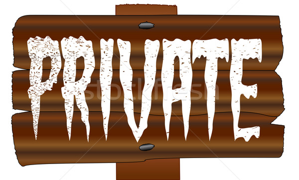 Wooden Private Sign Stock photo © Bigalbaloo
