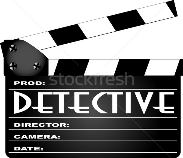 Detective Movie Clapperboard Stock photo © Bigalbaloo