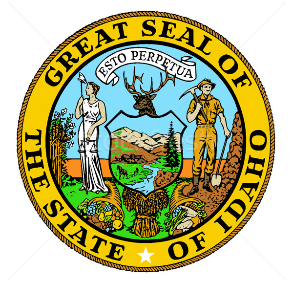 Idaho State Seal Stock photo © Bigalbaloo