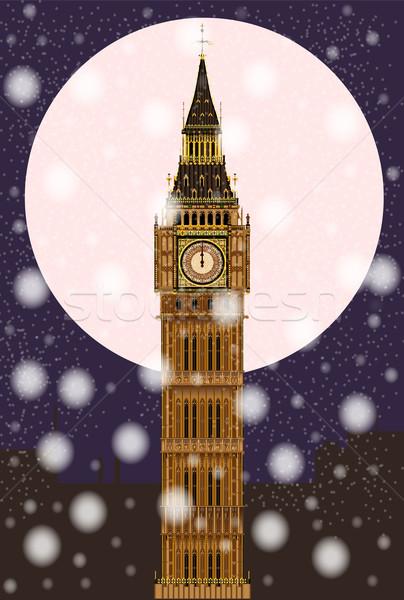London Christmas Eve Stock photo © Bigalbaloo