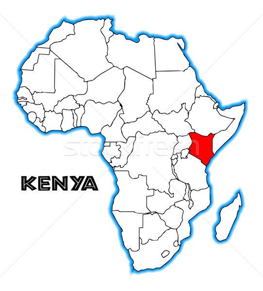 Kenya Stock photo © Bigalbaloo