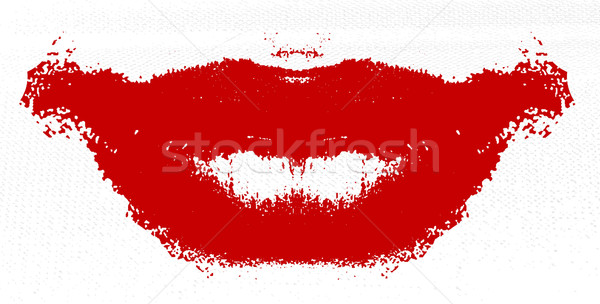 Stock photo: Lipstick Smudge on Tissue