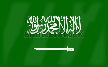 Flag of Saudi Arabia Stock photo © Bigalbaloo