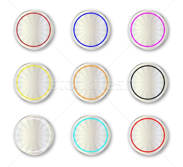 Metal Circular Buttons Stock photo © Bigalbaloo