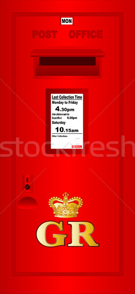 Typical UK Post Box Stock photo © Bigalbaloo