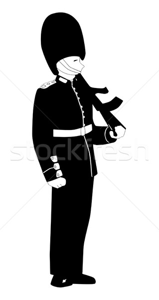 British Coldstream Guard Stock photo © Bigalbaloo