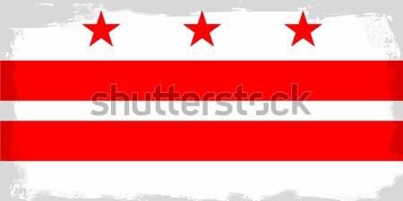 ワシントンDC フラグ 赤 白 図面 ストックフォト © Bigalbaloo
