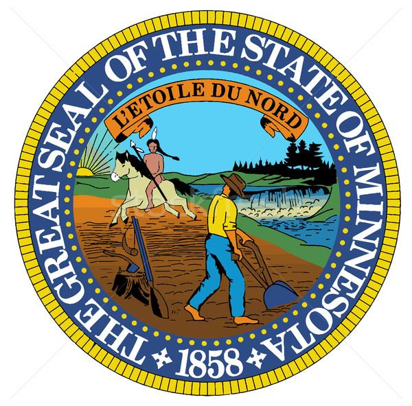Миннесота печать американский искусства графических изолированный Сток-фото © Bigalbaloo