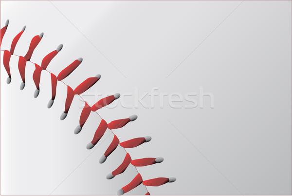 Baseball Stitching Stock photo © Bigalbaloo